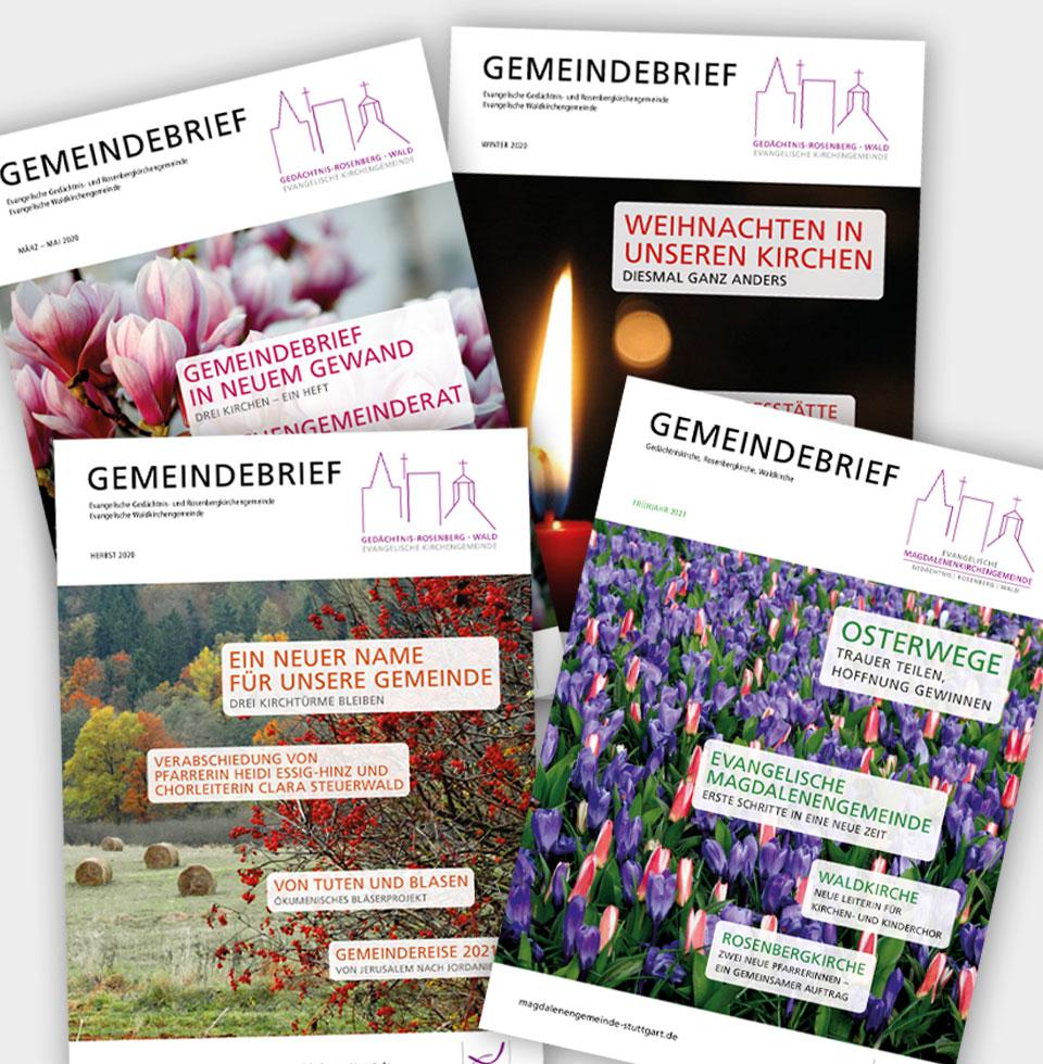Gemeindebrief: Beispiele Titelseiten