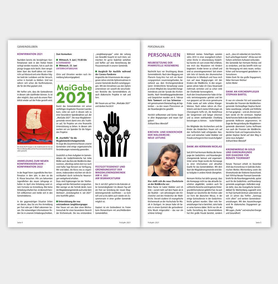 Gemeindebrief: Beispiele Innenseiten