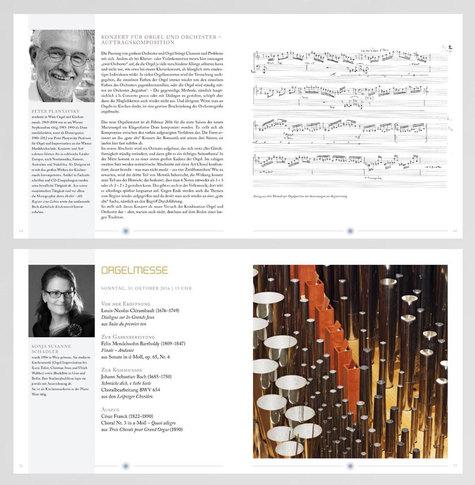 Festschrift / Programm: Beispiele Innenseiten