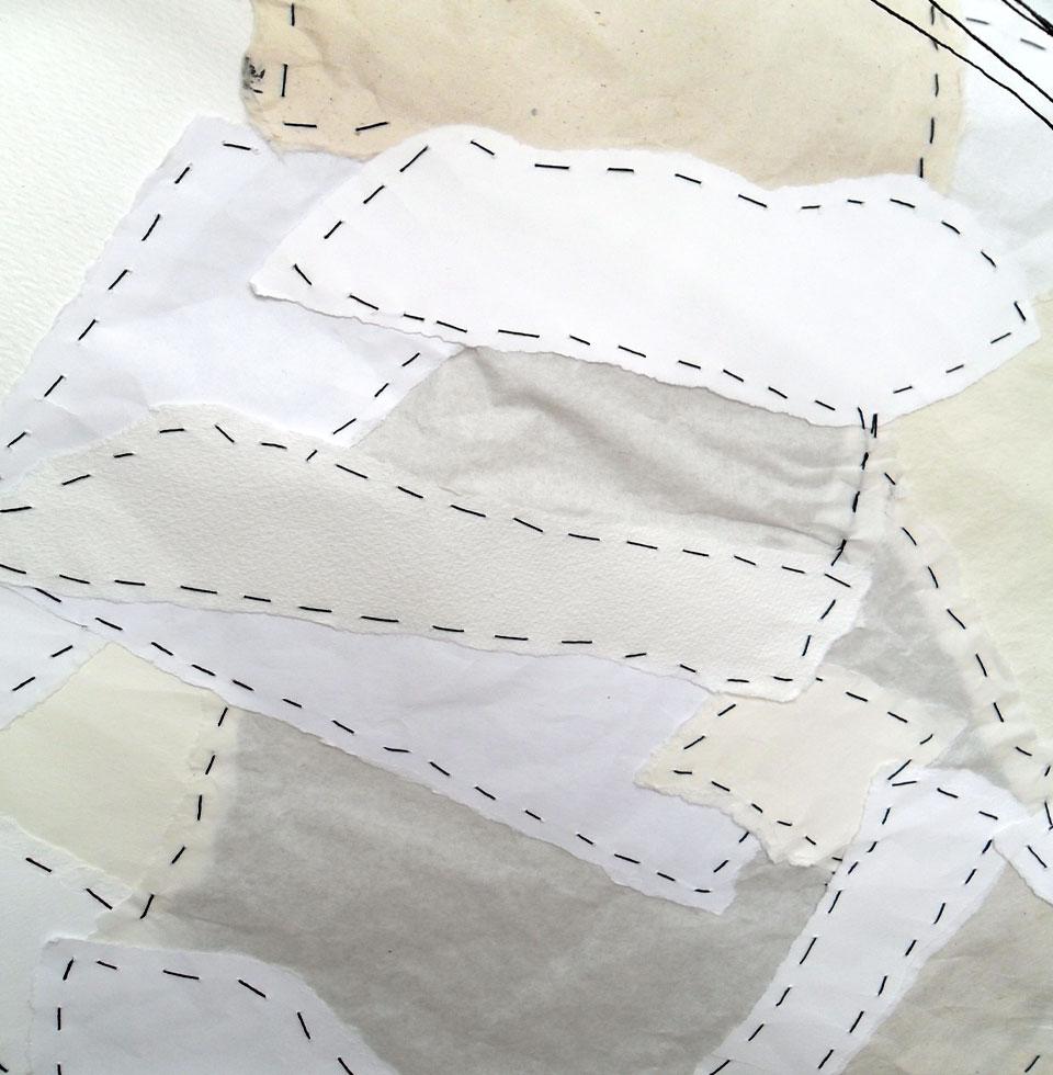 Anne Hooss – Art | Paper Work | Paper, thread, wooden sticks